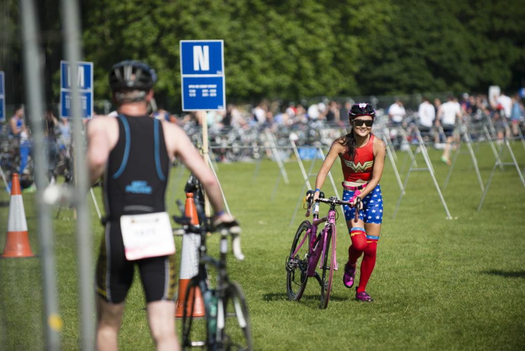 Triathlon transition photography